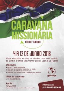 cartaz caravana missionaria gambia