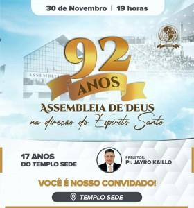 Aniversario da Assembleia de Deus Mossoró RN